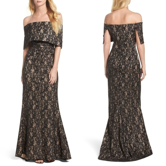 Vince Camuto Dresses & Skirts - VINCE CAMUTO Sequin Off the Shoulder Evening Gown